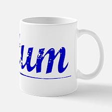 Tatum, Blue, Aged Mug