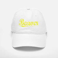 Beaver, Yellow Baseball Baseball Cap
