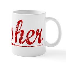 Asher, Vintage Red Mug