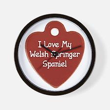 Love My Welshie Wall Clock
