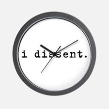 I Dissent (black) Wall Clock
