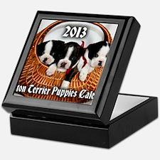 2013 Boston Terrier Puppies Calendar  Keepsake Box