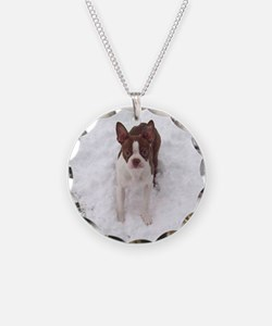 Red Boston Terrier Necklace