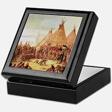 George Catlin Sioux War Council Keepsake Box