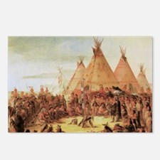George Catlin Sioux War C Postcards (Package of 8)