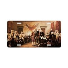 John Trumbull The Declarati Aluminum License Plate