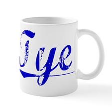 Tye, Blue, Aged Mug
