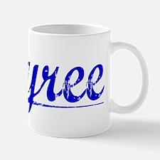 Tyree, Blue, Aged Mug