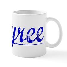 Tyree, Blue, Aged Small Mug