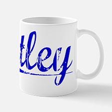 Utley, Blue, Aged Mug