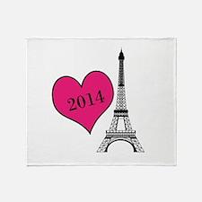 EIffel Tower Personalizable Throw Blanket