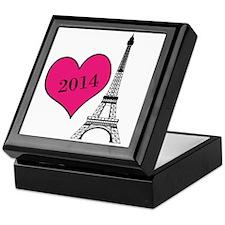 EIffel Tower Personalizable Keepsake Box