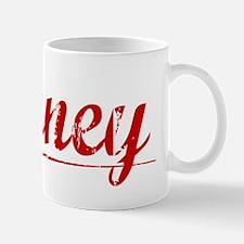 Birney, Vintage Red Mug