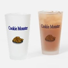 Cookie Monster design with Cookies Drinking Glass
