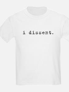 I Dissent (black) Kids T-Shirt
