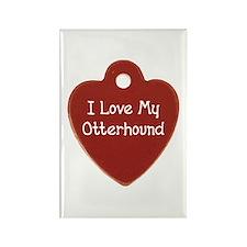 Love My Otterhound Rectangle Magnet