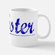 Webster, Blue, Aged Mug