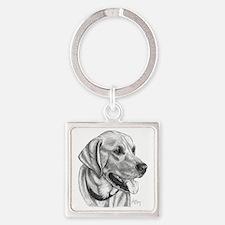 Yellow Labrador Retriever Square Keychain