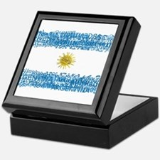 Textual Argentina Keepsake Box