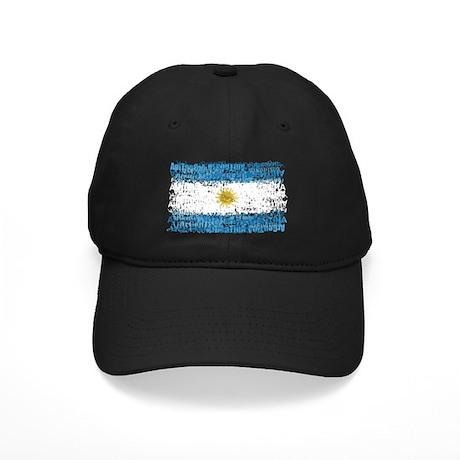 Textual Argentina Black Cap