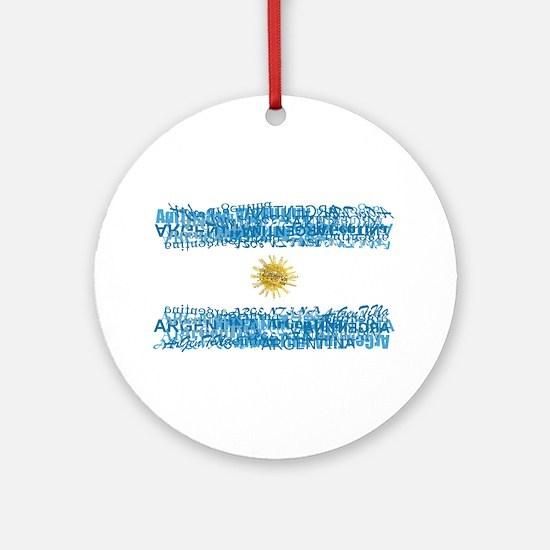 Textual Argentina Ornament (Round)