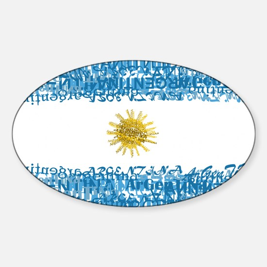 Textual Argentina Oval Decal