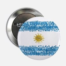 """Textual Argentina 2.25"""" Button (10 pack)"""