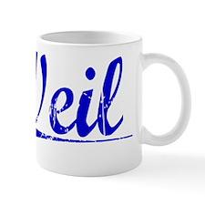 Weil, Blue, Aged Mug
