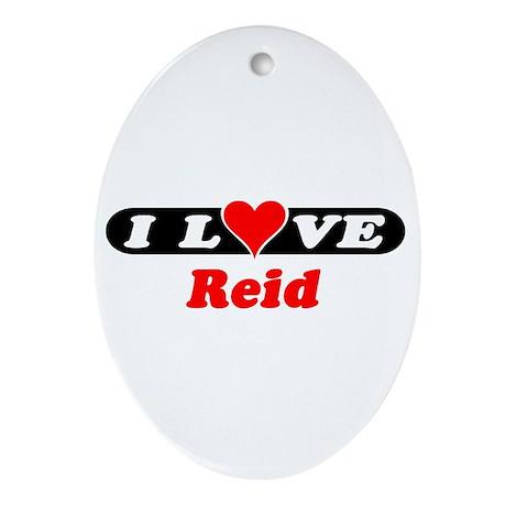 I Love Reid Oval Ornament