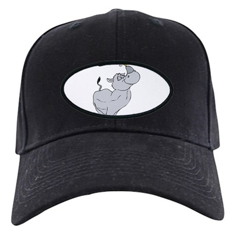Rhino spinning dreidel on his horn Baseball Hat