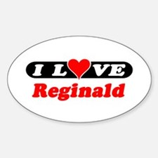 I Love Reginald Oval Decal