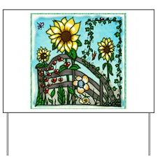 The Sunflower Garden Yard Sign
