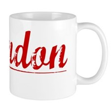 Brandon, Vintage Red Mug