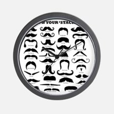 Know Your Staches Wall Clock