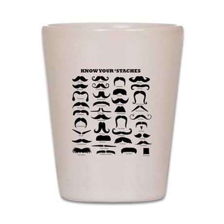 Know Your Staches Shot Glass