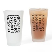 Know Your Staches Drinking Glass