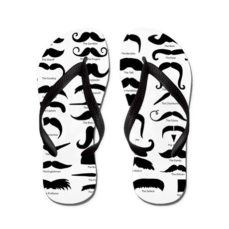 Know Your Staches Flip Flops