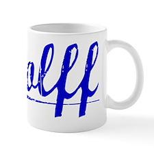 Wolff, Blue, Aged Mug
