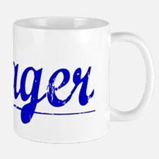 Yeager, Blue, Aged Mug