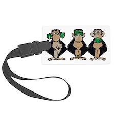 Three monkeys Luggage Tag