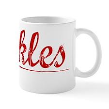 Buckles, Vintage Red Mug