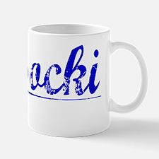 Wysocki, Blue, Aged Mug