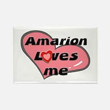 amarion loves me Rectangle Magnet