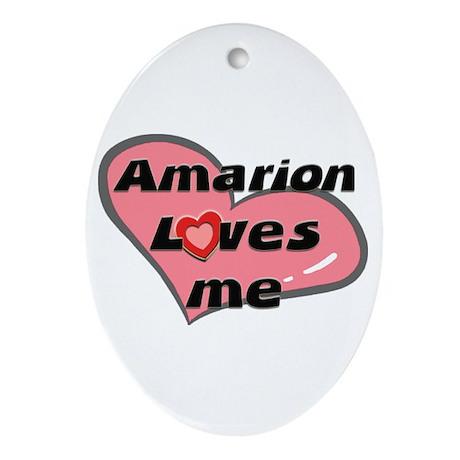 amarion loves me Oval Ornament