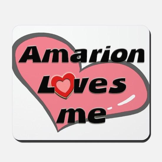 amarion loves me  Mousepad