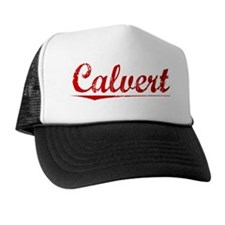 Calvert, Vintage Red Trucker Hat