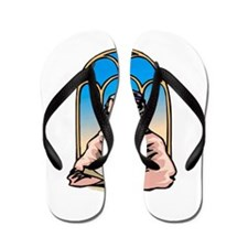 Rabbi for Hanukkah Flip Flops