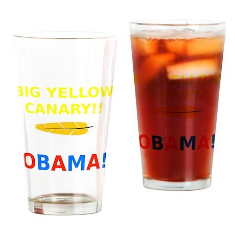 Big Yellow Canary Drinking Glass