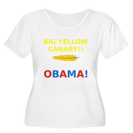 Big Yellow Ca Women's Plus Size Scoop Neck T-Shirt