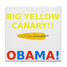 Big Yellow Canary Tile Coaster